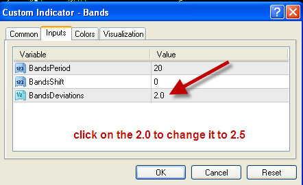 Standard deviation in bollinger bands
